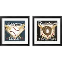Framed Baseball 2 Piece Framed Art Print Set