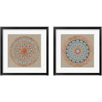 Framed Copper Mandala 2 Piece Framed Art Print Set