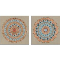 Framed Copper Mandala 2 Piece Art Print Set