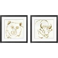 Framed Gilded Wildlife 2 Piece Framed Art Print Set
