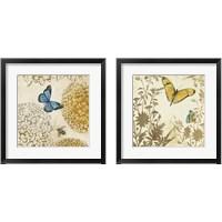 Framed Butterfly in Flight 2 Piece Framed Art Print Set