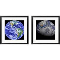 Framed Space Photography 2 Piece Framed Art Print Set