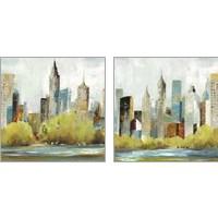 Framed Hudson Ferry 2 Piece Art Print Set