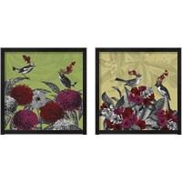 Framed Blooming Birds Florals 2 Piece Framed Art Print Set