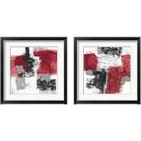 Framed Action Red Black 2 Piece Framed Art Print Set