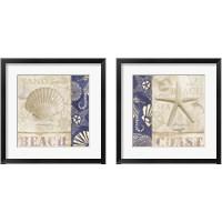 Framed White Sand Blue Sea 2 Piece Framed Art Print Set