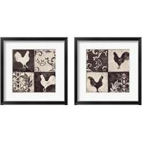 Framed Rooster Silhouette 2 Piece Framed Art Print Set