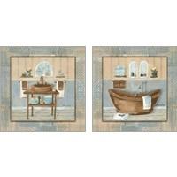 Framed Copper Sink & Tub Variation 2 Piece Art Print Set
