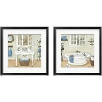 Framed French Country Bathroom 2 Piece Framed Art Print Set