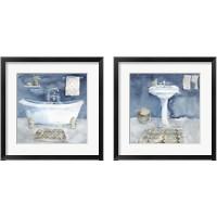 Framed Watercolor Bathroom 2 Piece Framed Art Print Set