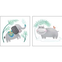 Framed Safari Cuties  2 Piece Art Print Set