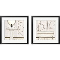 Framed Rustic Bathroom 2 Piece Framed Art Print Set