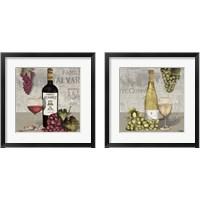 Framed Uncork Wine and Grapes 2 Piece Framed Art Print Set