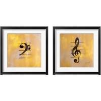 Framed Musical Notes 2 Piece Framed Art Print Set