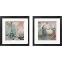Framed Vintage Europe 2 Piece Framed Art Print Set