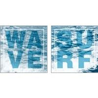 Framed Surf & Wave 2 Piece Art Print Set