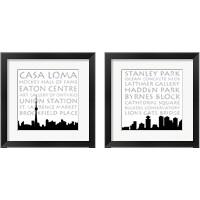 Framed Toronto & Vancouver Skyline Square 2 Piece Framed Art Print Set