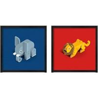 Framed Kids Animal 2 Piece Framed Art Print Set