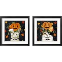 Framed Halloween Cat 2 Piece Framed Art Print Set