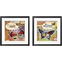 Framed Flutter Collage 2 Piece Framed Art Print Set