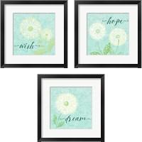 Framed Dandelion Wishes 3 Piece Framed Art Print Set