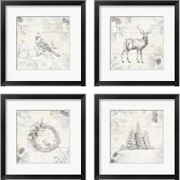 Framed Wild and Beautiful 4 Piece Framed Art Print Set