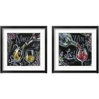 Framed Chalkboard Wine 2 Piece Framed Art Print Set