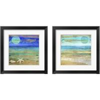 Framed Turquoise Moon 2 Piece Framed Art Print Set