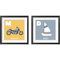 Framed Transportation Alphabet 2 Piece Framed Art Print Set