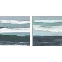 Framed Teal Sea 2 Piece Art Print Set