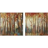 Framed Marble Forest  2 Piece Art Print Set