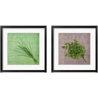 Framed Classic Herbs  2 Piece Framed Art Print Set
