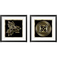Framed Black And Gold 2 Piece Framed Art Print Set
