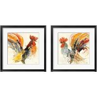 Framed Festive Rooster 2 Piece Framed Art Print Set