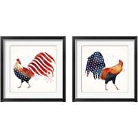 Framed Rooster Fireworks 2 Piece Framed Art Print Set