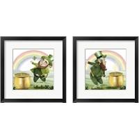 Framed Leprechaun's Rainbow 2 Piece Framed Art Print Set