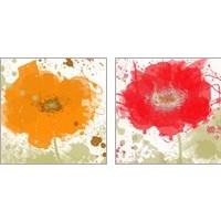 Framed Modern Colors 2 Piece Art Print Set