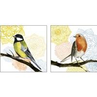 Framed Mandala Bird 2 Piece Art Print Set