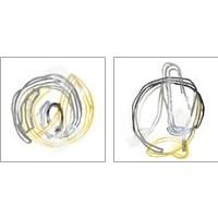 Framed String Orbit 2 Piece Art Print Set