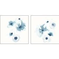 Framed Protea Blue 2 Piece Art Print Set