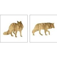 Framed Brushed Gold Animals 2 Piece Art Print Set