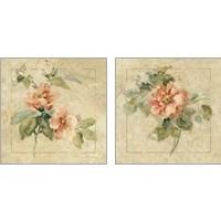 Framed Provence Rose 2 Piece Art Print Set