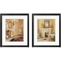 Framed French Bath 2 Piece Framed Art Print Set