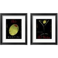 Framed Olive Martini 2 Piece Framed Art Print Set