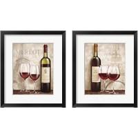 Framed Wine in Paris 2 Piece Framed Art Print Set