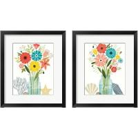 Framed Seaside Bouquet Mason Jar 2 Piece Framed Art Print Set