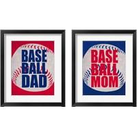 Framed Baseball Dad In Red 2 Piece Framed Art Print Set