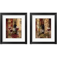 Framed Graffiti and Wine 2 Piece Framed Art Print Set