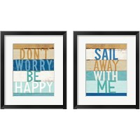 Framed Beachscape Inspiration 2 Piece Framed Art Print Set