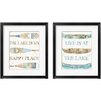 Framed Lakehouse 2 Piece Framed Art Print Set